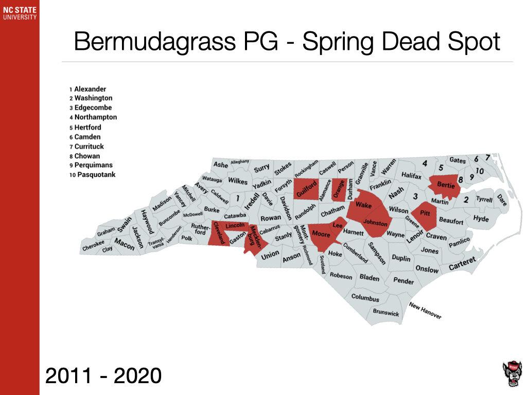 Bermudagrass PG - Spring Dead Spot