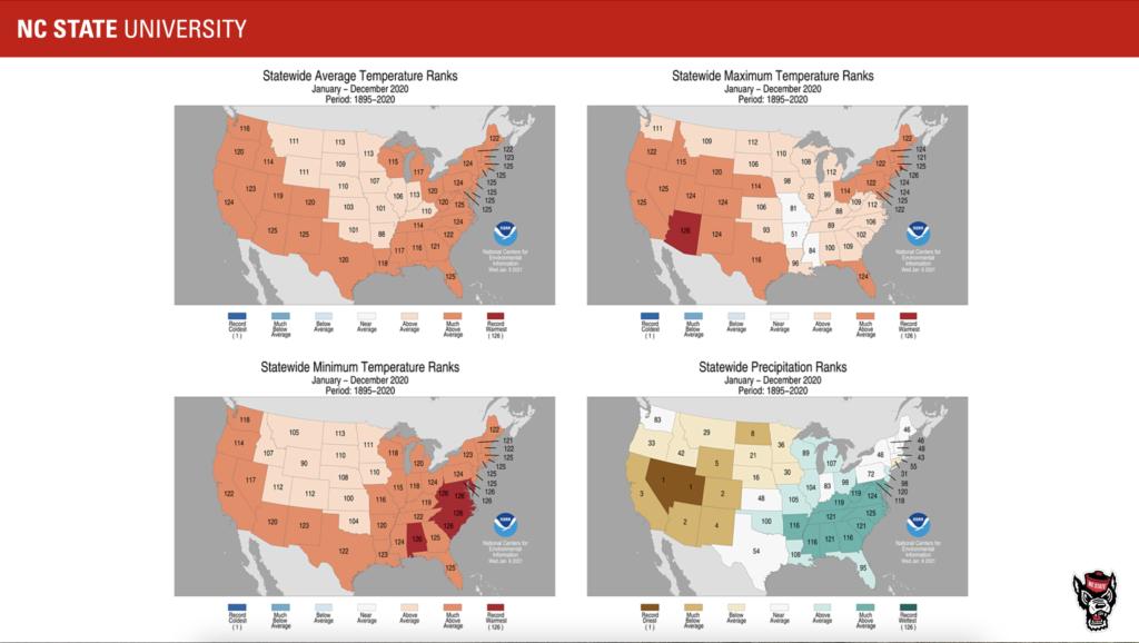 Temperature map images